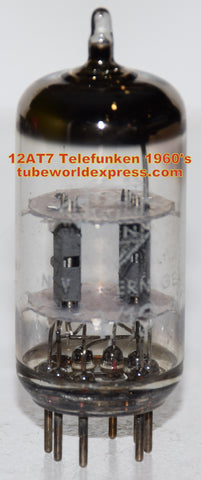 (!!) (#1 12AT7 Telefunken used) 12AT7 Telefunken Diamond Bottom used/good 1960's (10.0ma/10.8ma)