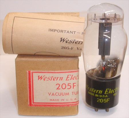 (!!!) (#1 205F) 205F Western Electric NOS in original box with data sheet (452=1954) (37ma) (tested on Amplitrex)