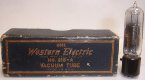CW-1344=215A Western Electric NOS original box (1 tube)