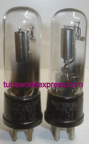 (!!!) (#1 231D Pair) 231D Western Electric engraved base