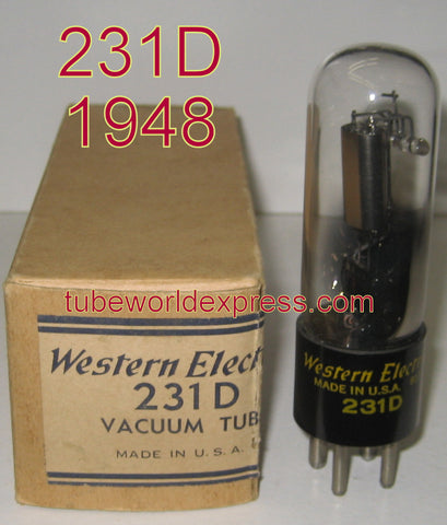 (!) (#1 231D - BEST SINGLE) 231D Western Electric 1948 with data sheet (2.7ma)