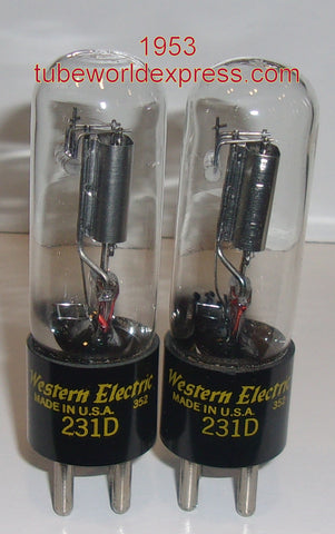 (!) (#1 231D Best Value Pair) 231D Western Electric NOS 1953 (1.8/1.8ma)