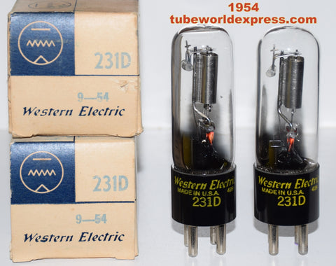 (!) (#1 231D Best Value Pair) 231D Western Electric NOS 1954 (1.6/1.6ma)