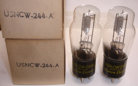 (!!) (#1 244A PAIR) USN-CW-244A Western Electric NOS 1952 (4.0ma and 4.3ma)