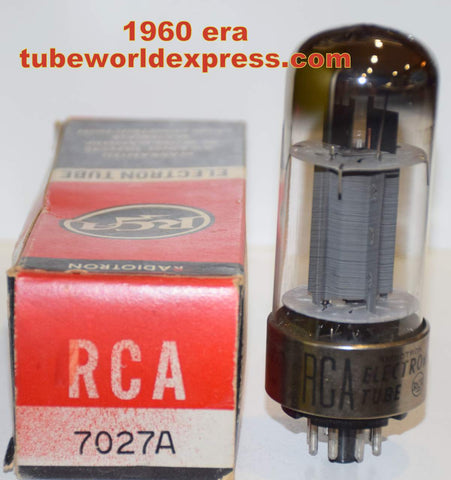 7027A RCA metal base gray plate NOS 1960 era double