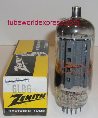 6LB6 GE branded Zenith NOS 1965 (106ma)