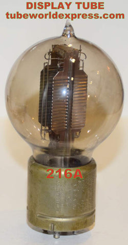 (DISPLAY TUBE) 216A Western Electric used 1920's - filament lights up - tube is gassy