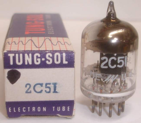 (slightly microphonic) 2C51=396A Tungsol black plates NOS