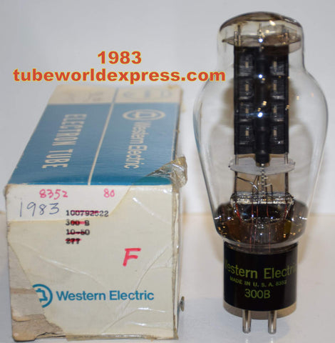 (!!!!) 300B Western Electric used/tests like new 1983 re-boxed - large getter like new (70ma) (100%)