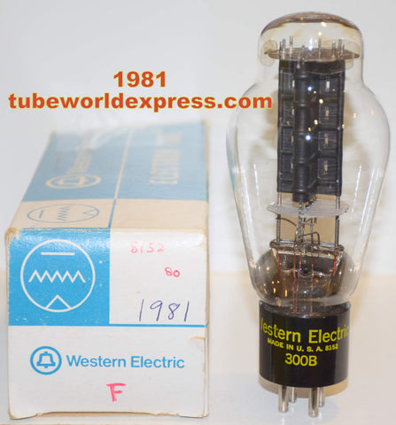 (!!!!) 300B Western Electric used/tests like new 1981 re-boxed - large getter like new (61.5ma) (100%)
