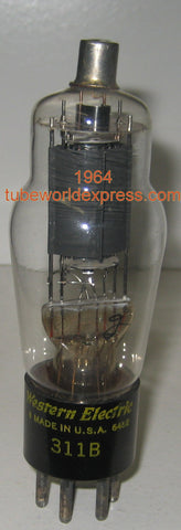 311B Western Electric used/strong, faded getter 1964 (35.5ma)