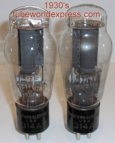 (!!) (#1 314A PAIR) 314A Western Electric Engraved base NOS 1930's (P3)