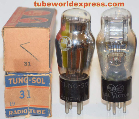 (!!) (#2 31 PAIR) 31 Tungsol and RCA Victor NOS same build 1940-1947 (12.8ma and 13.0ma)