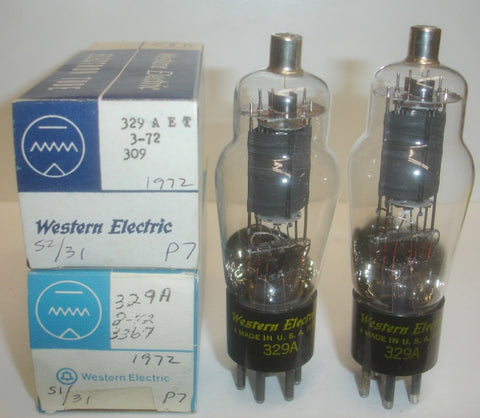 329A Western Electric NOS 1972 (1 Pair: 33.6ma and 35.2ma)