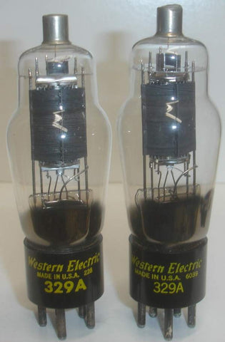 (BEST PAIR) 329A Western Electric NOS 1952-1960 (P11)