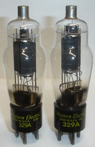 (BEST PAIR) 329A Western Electric NOS 1952-1957 (1 Pair) P3