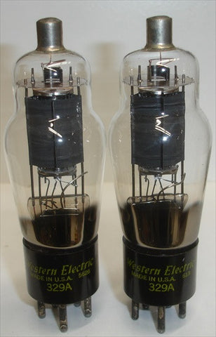 (!!!) (~ RECOMMENDED PAIR ~) 329A Western Electric NOS 1956 (33ma and 34ma)
