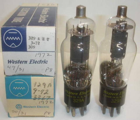 329A Western Electric NOS 1972 (1 PAIR: 35ma and 37ma)