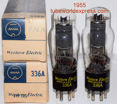 (!!!!!) (#1 336A Pair 1955) 336A Western Electric NOS 1955 same date codes (39ma and 39.5ma) (matched on Amplitrex) (Buy 2 pairs receive 5% discount)