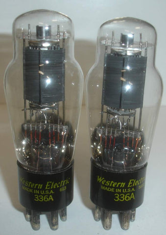 (!!!) (#1D 336A Pair) 336A Western Electric NOS 1956 (59ma and 62.5ma)
