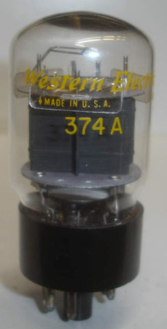 (!!!) (#1 374A) 374A Western Electric black plate used/test like new 1960's (21-25ma) (11 in stock)