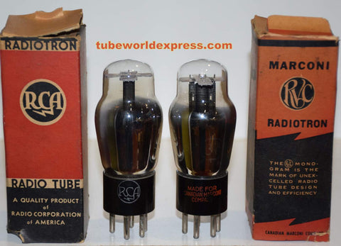 (!!) (#1 37 Pair) 37 RCA NOS 1940's (8.5ma and 8.5ma) 1% matched