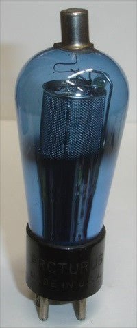 39A Arcturus Blue Balloon used/good tilted top cap 1930's