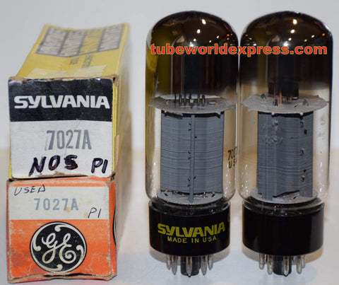 (!!) (Best Value Pair) 7027A Sylvania NOS/80% and used/good/80% (54ma and 55ma)