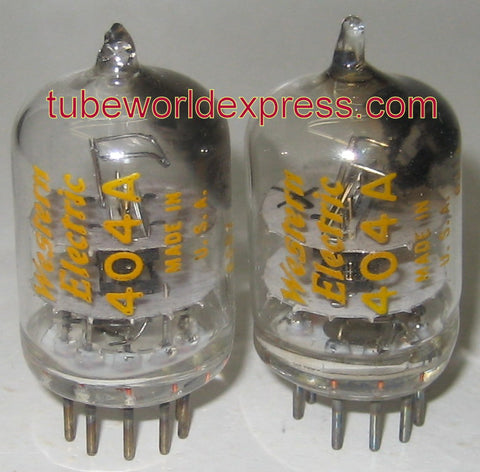 (!) (#1 404A Pair) 404A=5847 Western Electric used/tests like new 1963-1965 (24ma and 25ma)