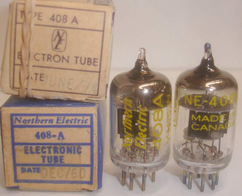 408A Northern Electric Canada NOS 1960 and 1974 (1 pair)