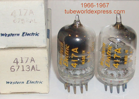(!!!) (#2 417A Pair) 417A Western Electric NOS original boxes 1966-1967 (30.5ma and 36ma)