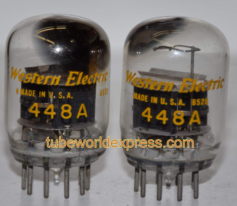 (!) 448A Western Electric smooth top used/good 1965-1966 (1 pair: 19.2ma and 20.8ma) (Matched on Amplitrex)
