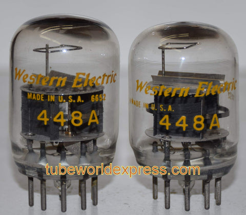 (!) 448A Western Electric smooth top used/strong 1966-1970 (1 pair: 37ma and 40.5ma) (Matched on Amplitrex)
