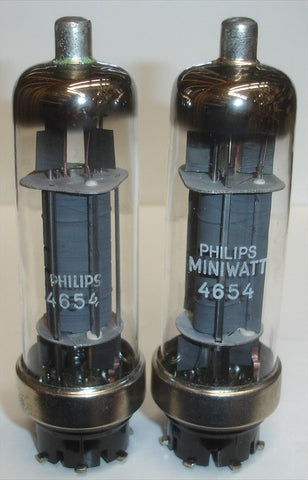 (!!) (#1 4654 Pair) 4654 Philips and Philips Miniwatt NOS 1962 (54.4ma and 54ma)