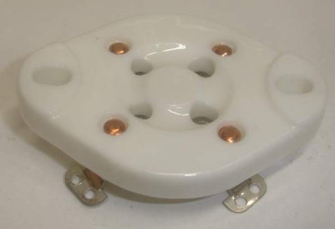 4 pin ceramic chassis mount sockets for 2A3, 300B, 45, 50, 811A (UX-4 base) (0 in stock)