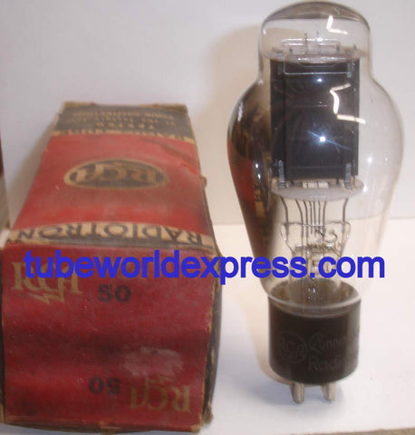 (!!!!) (Best Overall Single) 50 RCA Cunningham engraved base NOS ST-19 around 1940 (61.5ma) (strong Ma and Gm)