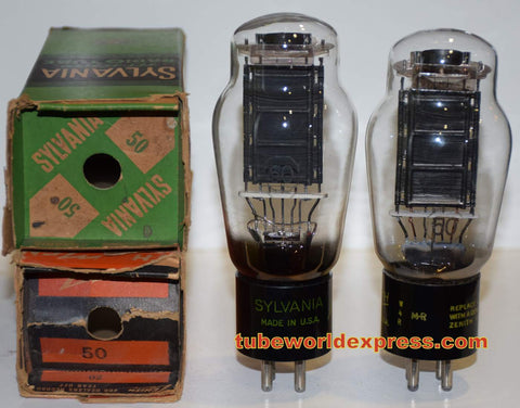 (!!!!) (Best Overall Pair) 50 Sylvania and Sylvania branded Zenith ST-16 shape NOS original box 1940's (60ma and 63ma)