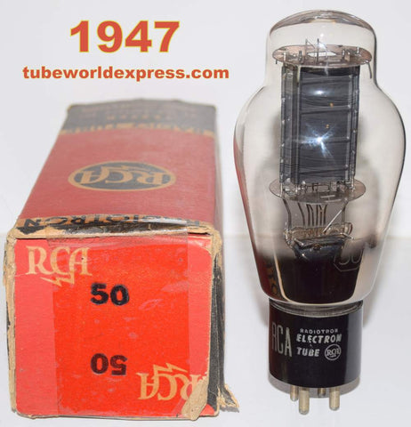 (sold) 50 RCA NOS ST-19 glass shape 1947 (54.5ma)
