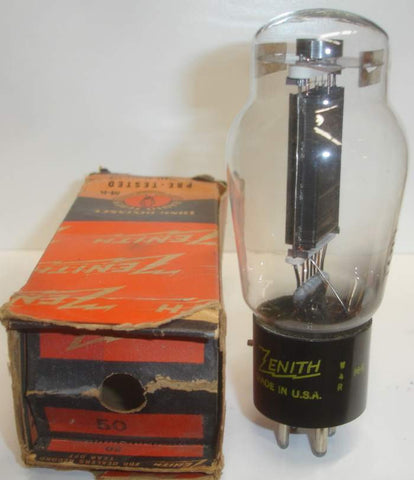50 Zenith by Sylvania ST-16 shape NOS original box 1940's (63ma) (strong Ma and Gm) (tested on Amplitrex)