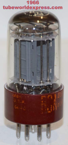 (!!) 5691 RCA Red Base gray plates low hours/tests like new 1966 - broken center guide pin (3.1/3.2ma)