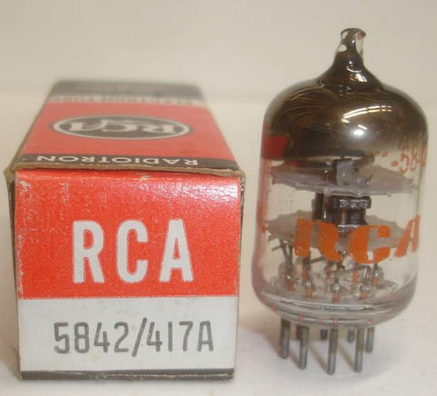 5842 Raytheon branded RCA NOS 1976 (28ma and Gm=26,000)
