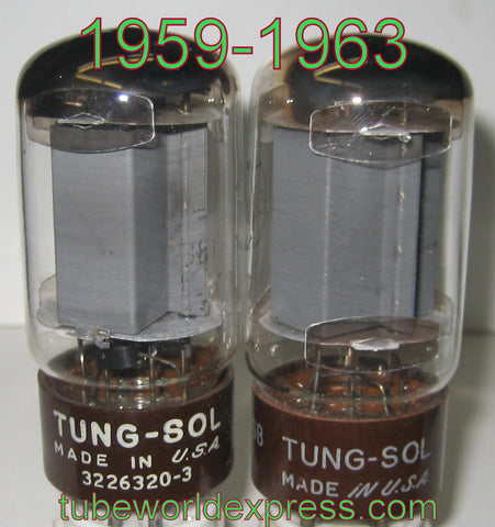 (!!!) (#1 5881 Tungsol used pair) 5881 Tungsol used/good 1959-1963 (51.5ma and 52.5ma)
