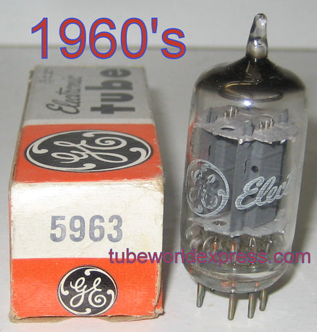 5963=12AU7 GE NOS 1960's (10 in stock)