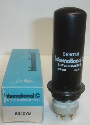 5R4GYM RCA metal can NOS rebranded International Servicemaster USA (64/40 and 68/40)