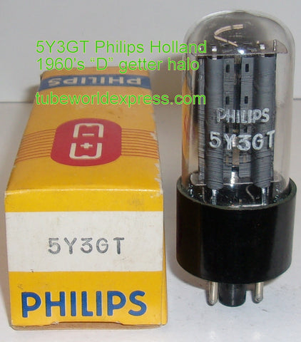 (!!!!!) (Best Overall Single) 5Y3GT Philips Holland NOS 1960's (59/40 and 60/40)