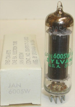 6005W Sylvania JAN black plate clear glass NOS 1971-1977 (single)