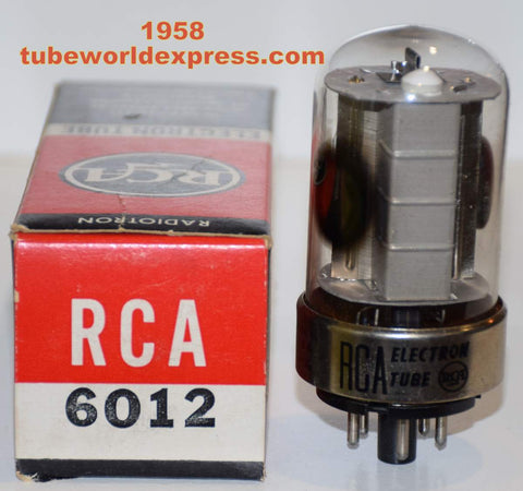 6012 RCA low hours/test like new 1958 in original boxes (4 in stock)