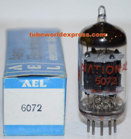 (!!) (BEST GE SINGLE) 6072A GE rebranded National NOS 1960's - 1970 era in Aero Electronics box (2.6/2.7ma)