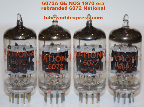 (!!!) (~ BEST LOW NOISE MATCHED QUAD ~) 6072A GE rebranded National NOS 1960's - 1970 era in Aero Electronics boxes 1-2% matched quad