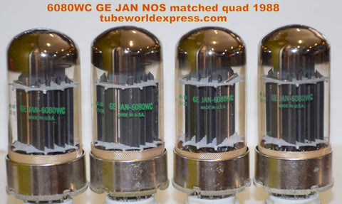 (!!!!!) (BEST PRICE) 6080WC GE JAN NOS 1988 (matched quad)